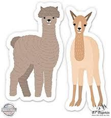 Alpaca Love Decor Decal Sticker Car Window Camelid Llama Cute Kids Free Us Ship
