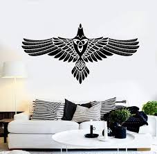 Vinyl Wall Decal Abstract Celtic Crow Raven Ornament Stickers 2387ig Wallstickers4you