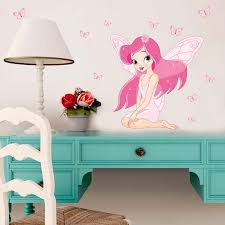 Beautiful Butterfly Fairy Wall Stickers For Girl S Room Kids Room Bedroom Background Wall Decor Eco Friendly Art Decals Aliexpress