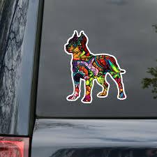 Waterproof Auto Pitbull Superhero Dog Bulldog Reflective Suv Car Sticker Decals