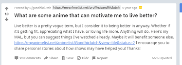 anime that can motivate you to live better according to reddit