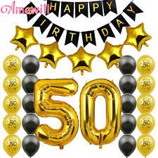 Amawill 50th Kit De Decoracion Para Fiesta De Cumpleanos 50 Numero