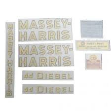 44 Diesel Decal Set Vinyl Massey Harris 44