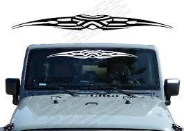 Heart Tribal Windshield Banner Decal Back Window Sticker Fits Jeep Wrangler Wb11 Ebay