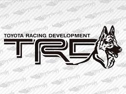 Toyota Trd German Shepherds Dog Logo Decal
