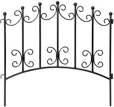 Amazon Com Amagabeli 18in X 7ft Decorative Garden Fence Border Rustproof Iron Animal Barrier Black M In 2020 Metal Fence Panels Decorative Garden Fencing Metal Fence