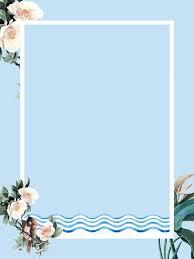 blue flowers border background design