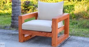 diy a beautiful modern outdoor chair