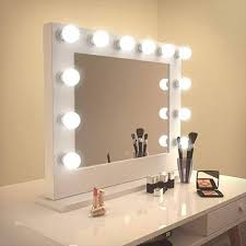 wall mounted makeup mirror lighted