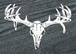 Deer Skull Rear Hunting Window Decal Sticker Custom Sticker Shop
