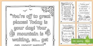 mindfulness graduation quotes colouring pages teacher made