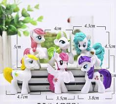 6pc set my little pony collectibles