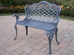 cast aluminum outdoor garden love seat