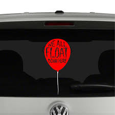 We All Float Balloon Pennywise Clown It Inspired Vinyl Decal Sticker Cosmic Frogs Vinyl