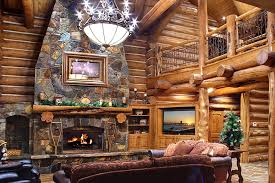 log home was built from forest fire