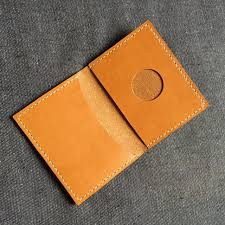 horween dublin leather card case