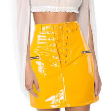 pu leather skirt women fashion
