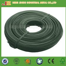 1 60mm x 10m green pvc coated tie wire