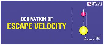 derivation of escape velocity check