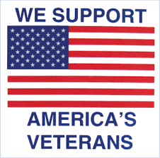 We Support America S Veterans Window Decal American Legion Flag Emblem