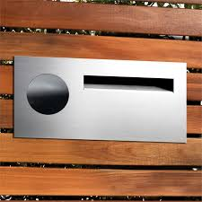 Sandleford Stainless Steel Lombard Fence Mounted Letterbox