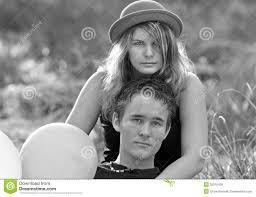 hot young woman man romantic couple