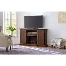 rustic fireplace tv stands electric