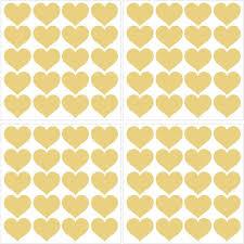 Wall Pops Metallic Metallic Gold Hearts Wall Decal Set Of 2 Twpk2666 The Home Depot