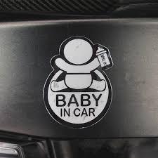 Car Styling 3d Nickel Metal Cartoon Stickers Baby In Car Warming Car Sticker Baby On Board Emblem High Quality Car Stickers Aliexpress