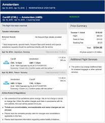 flight itinerary for visa application