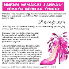 pin oleh de ari di islam hukum sahabat dan sandal