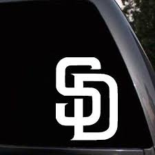 San Diego Padres Car Window Truck Bumper Laptop Vinyl Sticker Decal Ebay