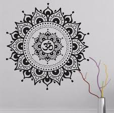 Big Mandala Lotus Flower Wall Decal Vinyl Art Sticker Yoga Mandala Shop