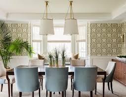 lotus wallpaper in mushroom dining