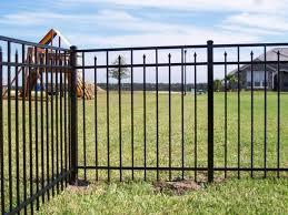 flat top spear aluminum fence