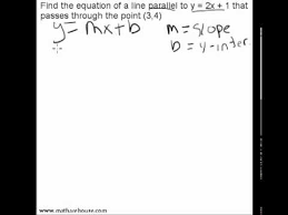 write equation of line parallel to a