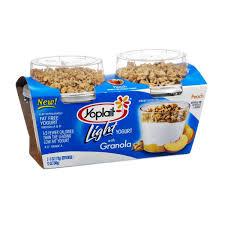 yoplait light yogurt peach with granola