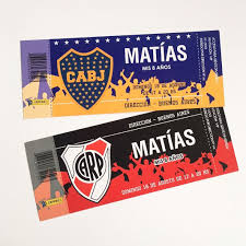Invitaciones River Boca Tarjetas Cumple Ticket Futbol X15u