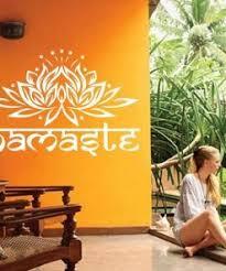 Indian Lotus Namaste Wall Decal Yoga Mandala Shop