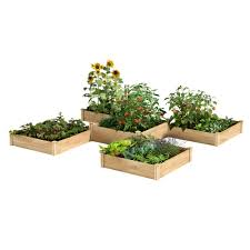 Greenes Fence 12 Ft X 12 Ft 80 Sq Ft Original Cedar Raised Garden Bed Rc12t8s64b The Home Depot