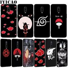 Naruto Shippuden Logo Soft TPU Black Silicone Phone Case for OnePlus 7T 7  Pro 6 6T 5 5T One Plus 7Pro Cover|Fitted Cases