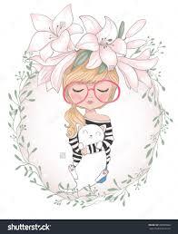 Cute Kitty Girl Drawing