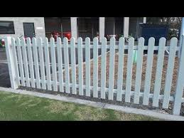 Picket Fencing Replas Recycled Plastic Fencing Product