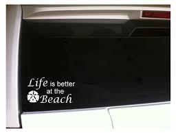 Life S Better Beach Sand Dollar Car Decal Vinyl Sticker C27a 6 Ocean Boats Love For Sale Online