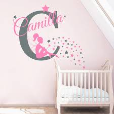 Personalized Name Wall Decal Nursery Vinyl Wall Stickers Home Decor Kids Room Fairy Art Decal Mural Star Custom Kids Name Zb490 Stickers Home Decor Vinyl Wall Stickersname Wall Stickers Aliexpress