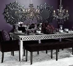 sophie mirrored dining table elegant