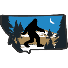Bigfoot In Montana Mt Sticker Heart Sticker Company