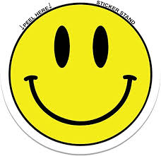 Amazon Com Smiley Face Car Bumper Sticker Decal 4 X 4 Automotive