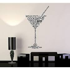Vinyl Wall Decal Cocktail Glass Words Party Alcohol Bar Stickers Vs4831 Amazon Com