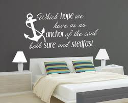 Vinyl Wall Decal Hope S Anchor Vinyl Letters Bible Verse Etsy